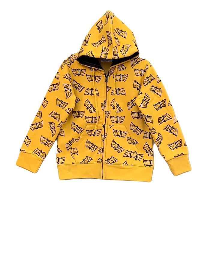 allover carton printed hoodie