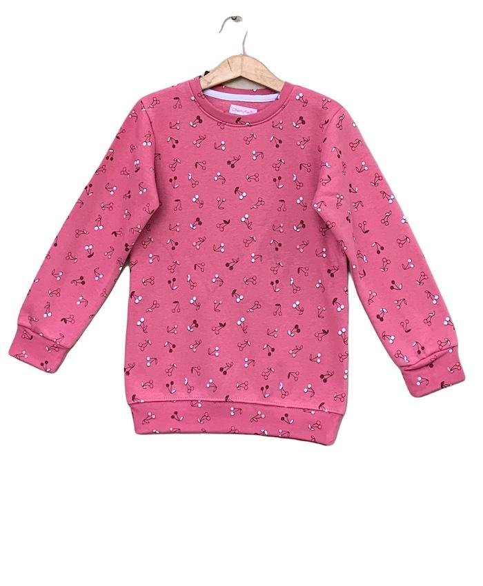 allover printed sweatshirt