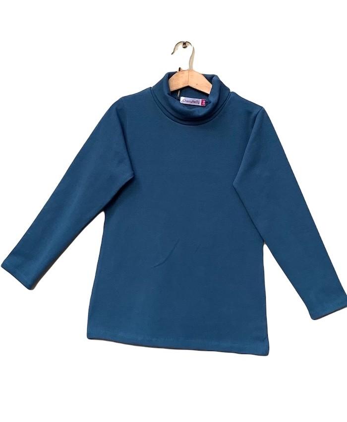Unisex stretch High neck T-shirt