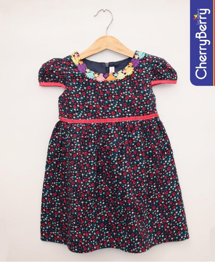 flower cotton frock